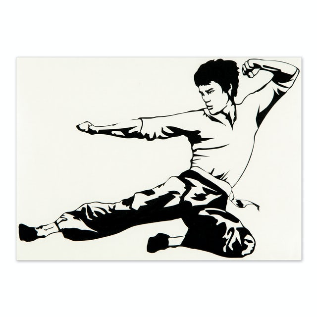 Bruce Lee ETD Chucks Sticker