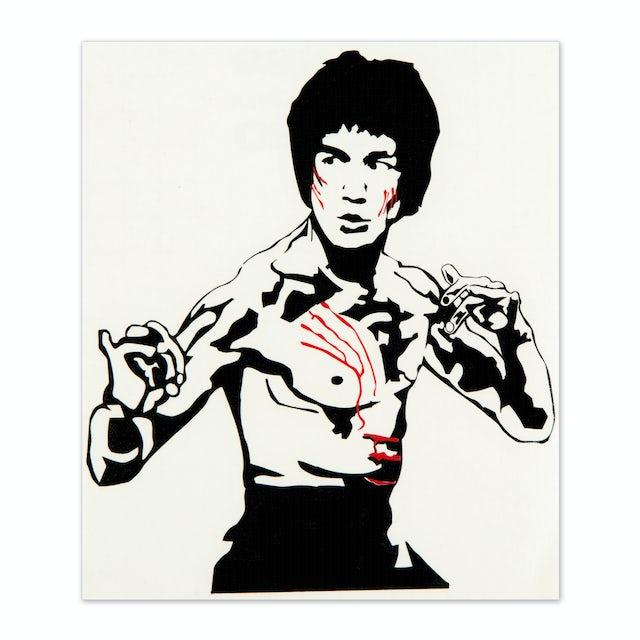Bruce Lee Flying Man Style Sticker