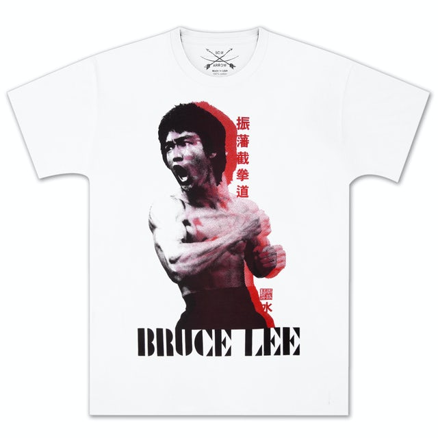 Bruce Lee Recoiled Fist T-shirt by Bow & Arrow