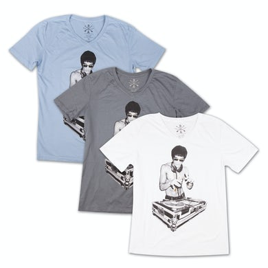 Bruce Lee DJ Dragon V Neck Tee by Bow & Arrow