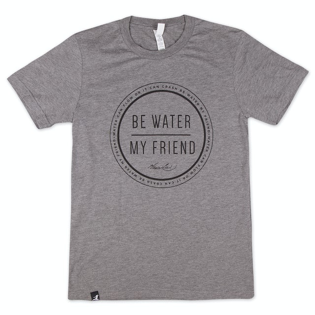 Bruce Lee Be Water Letters T-Shirt