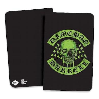 Dimebag Darrell Green Dimebag Skull Notebook