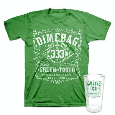 Dimebag Darrell St. Paddy's Pint Glass + T-Shirt Bundle