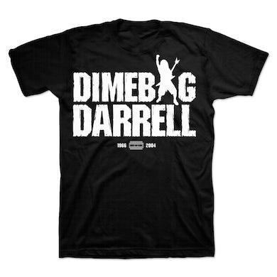 Dimebag Darrell Silhouette Text T-Shirt