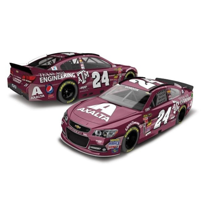 Hendrick Motorsports Jeff Gordon - #24 Texas A&M  2014 Nascar Sprint Cup Series Diecast 1:24 Scale Color Chrome