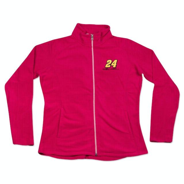 Hendrick Motorsports Jeff Gordon - #24 Signature Ladies Full Zip Fleece Sweat Shirt