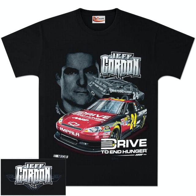 Hendrick Motorsports Jeff Gordon #24 AARP Dual Graphic T-shirt Black
