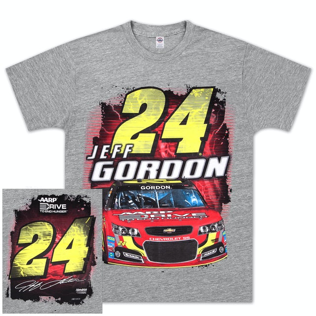 Hendrick Motorsports Jeff Gordon #24 Drive to End Hunger Silver Streak T-shirt