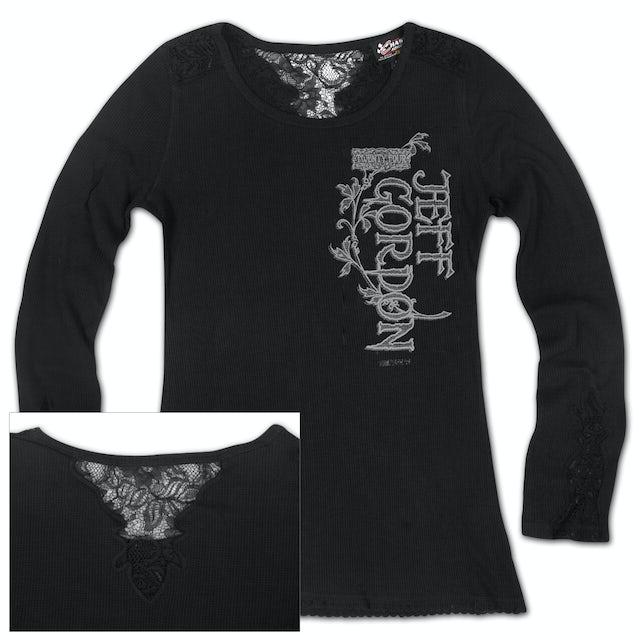 Hendrick Motorsports Jeff Gordon #24 Ladies Blackout Long Sleeve T-shirt