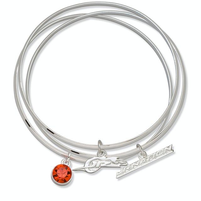 Hendrick Motorsports JR Nation Bangle Bracelets with Charms