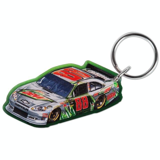 Hendrick Motorsports Dale Jr #88 Diet Mt Dew Car Acrylic Key Ring