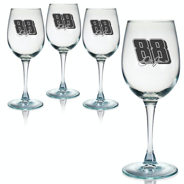 Hendrick Motorsports Dale Jr 12oz Wine Glass - Set of 4