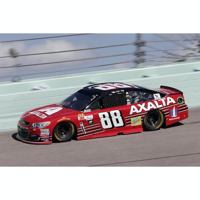 Hendrick Motorsports AUTOGRAPHED Dale Earnhardt, Jr. 2017 NASCAR Cup Series No. 88 Axalta Last Ride Homestead Raced 1:24 Die-Cast