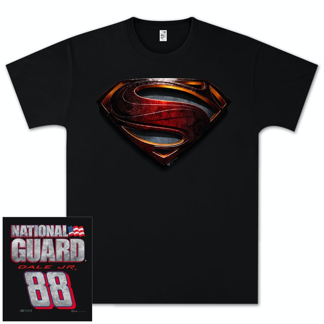 Hendrick Motorsports Dale Jr National Guard Superman T-shirt