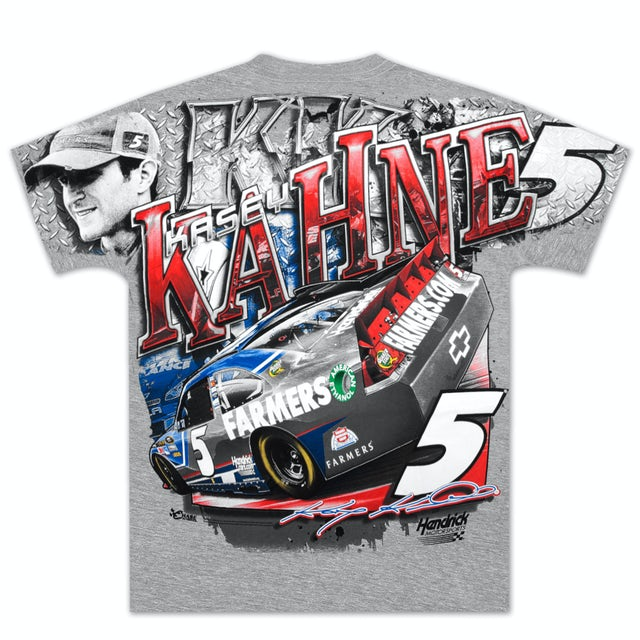 Hendrick Motorsports Kasey Kahne #5 Farmers Velocity Total Print T-shirt