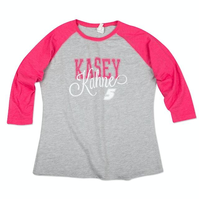 Hendrick Motorsports Kasey Kahne #5 Ladies Baseball T-Shirt