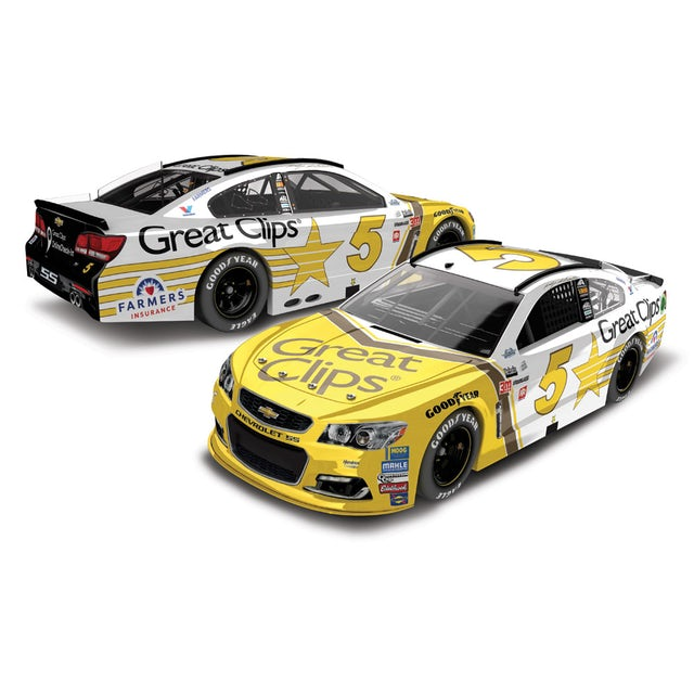 Hendrick Motorsports Kasey Kahne 2017 NASCAR Cup Series No. 5 Great Clips Throwback 1:64 Die-Cast