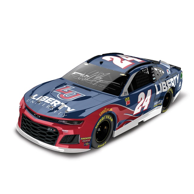 Hendrick Motorsports Autographed William Byron 2019 #24 Liberty University Elite 1:24 - Die Cast
