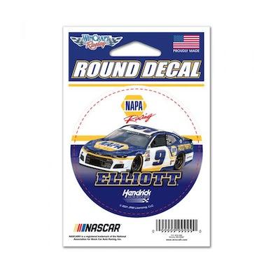 """Hendrick Motorsports Chase ElliottNAPA Round Vinyl Decal - 3"""" x 3"""""""