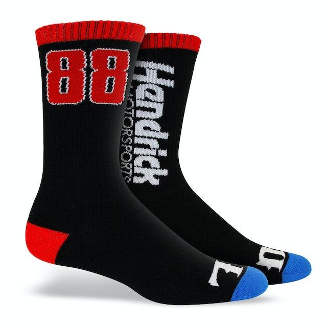 """Hendrick Motorsports Exclusive - #88 """"Wide Open"""" Socks"""