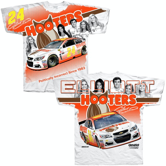 Hendrick Motorsports Chase Elliott Hooters Adult Total Print T-shirt