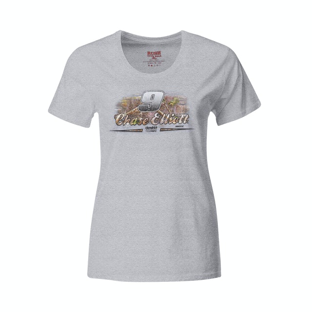 Hendrick Motorsports #9 NASCAR Chase Elliott Ladies TrueTimber T-shirt
