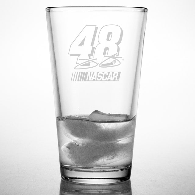 Hendrick Motorsports Jimmie Johnson 16oz Etched Pint Glass
