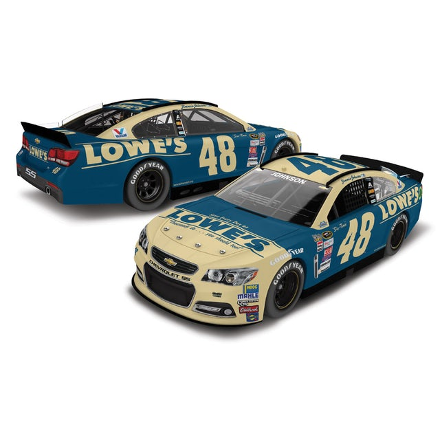 Hendrick Motorsports Jimmie Johnson 2015 #48 Darlington Throwback 1:24 Scale Nascar Sprint Cup Series Die-Cast