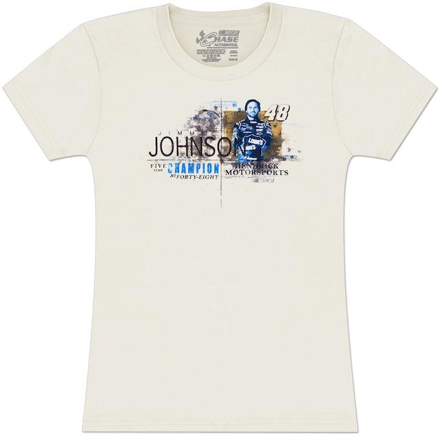 Hendrick Motorsports Jimmie Johnson #48 Ladies Vintage Speed T-shirt