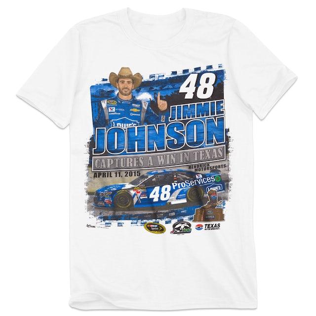 Hendrick Motorsports Jimmie Johnson #48 2015 Texas Race Winner T-shirt