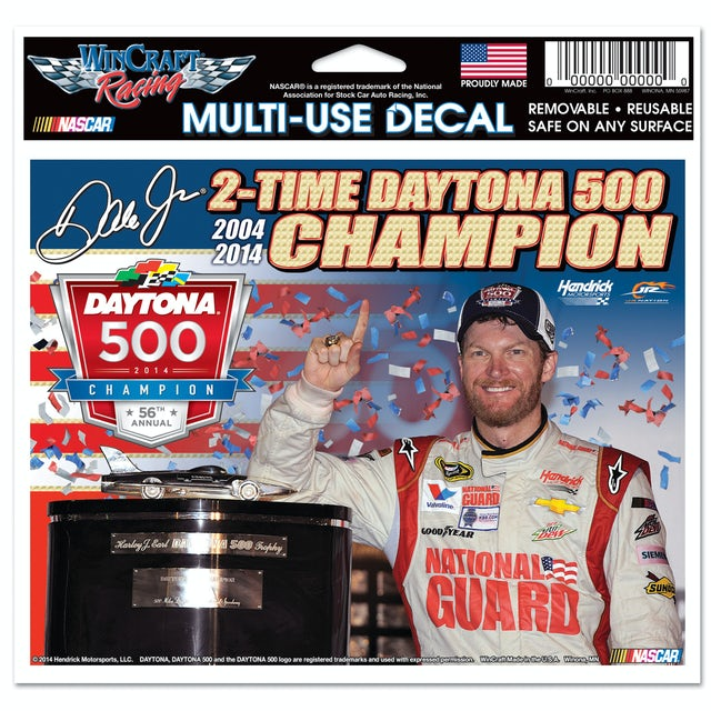 "Hendrick Motorsports Dale Jr. 2014 Daytona 500 4X6"" Multi Use Decal"