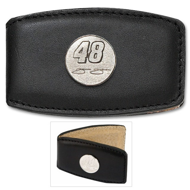 "Jimmie Johnson #48 3/4"" Leather Money Clip"