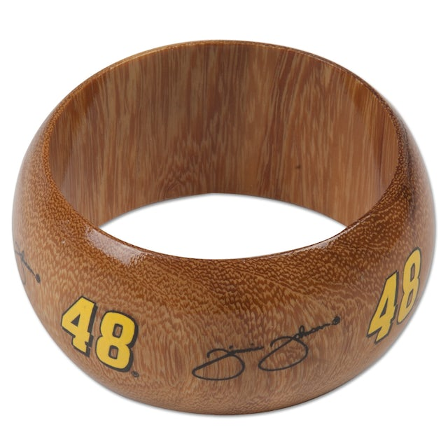 Jimmie Johnson #48 Dark Wood Bangle Bracelet