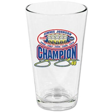 Jimmie Johnson #48 2010 Sprint Cup Champ Pint Glass