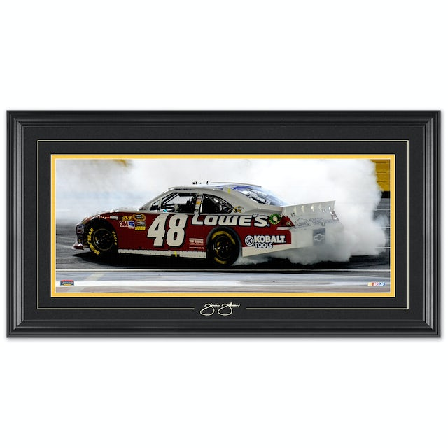 Jimmie Johnson #48 2012 All Star Win Framed Mini Panoramic w/ Engraved signature