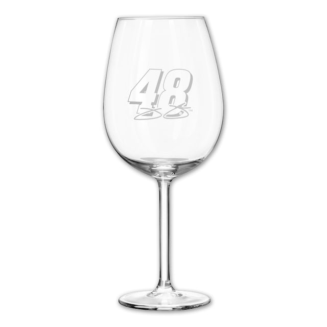 Jimmie Johnson #48 12oz Etched Wine Glass
