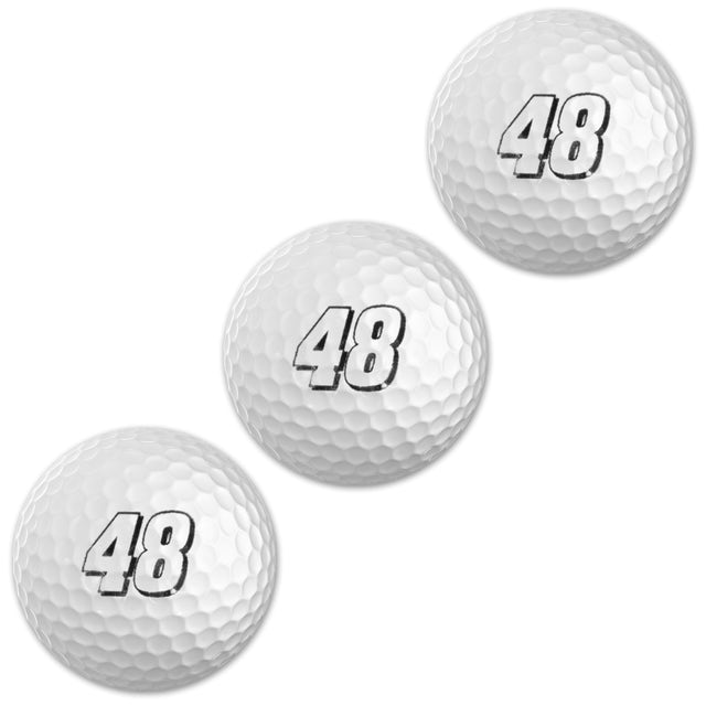 Jimmie Johnson #48 Lowes 3-Pack Sleeve Golf Balls