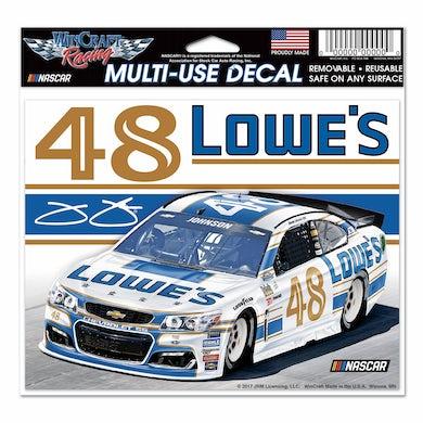 "Jimmie Johnson 2017 #48 Darlington Multi-Use Decal - 5.75"" x 5.5"""