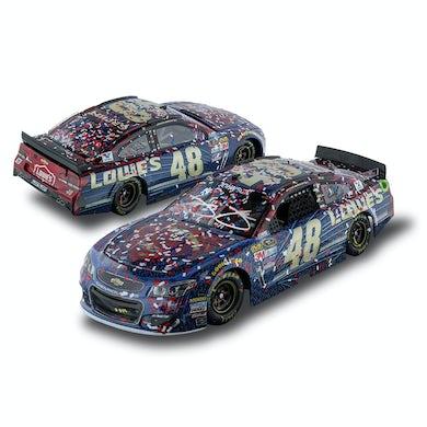 AUTOGRAPHED Jimmie Johnson #48 2016 AUTO CLUB 400 Race Win Superman 1:24 Diecast