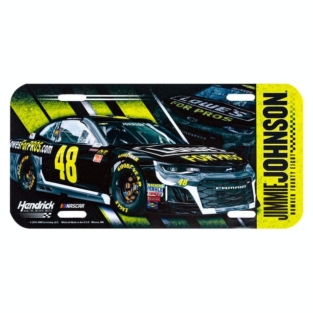 Jimmie Johnson #48 2018 NASCAR License Plate