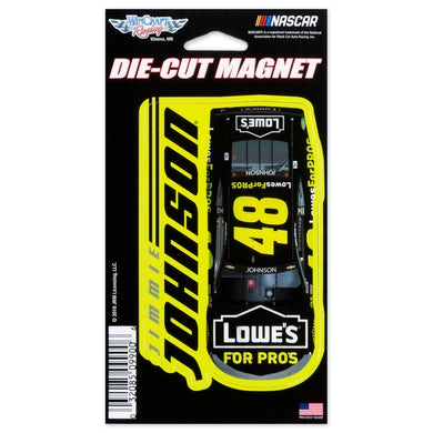 """Jimmie Johnson #48 2018 NASCAR Die-Cut Magnet - 3"""" x 5.4"""""""