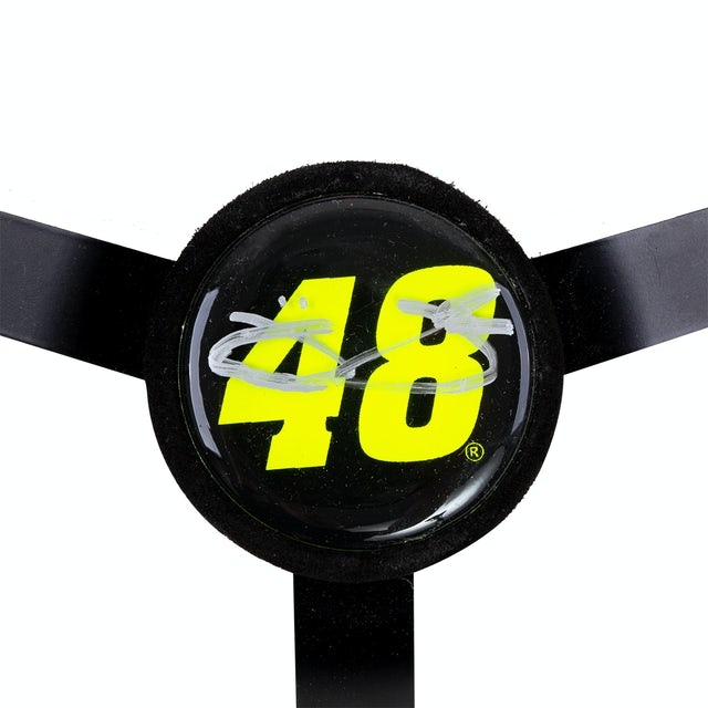 Autographed Jimmie Johnson Custom  Replica Mini Steering Wheel - measures 8 1/4 inches in diameter