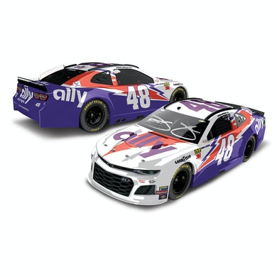 Autographed Jimmie Johnson #48 2019 Ally Darlington NASCAR 1:24 ELITE - Die Cast
