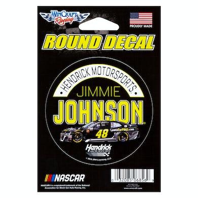 "Jimmie Johnson #48 2018 NASCAR Round Decal - 3"""
