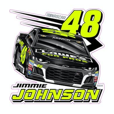 "Jimmie Johnson #48 2018 NASCAR Fluorescent Decal - 6""x6"""