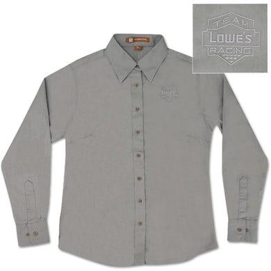 Jimmie Johnson Team Lowe's Racing Ladies Long Sleeved Twill Shirt