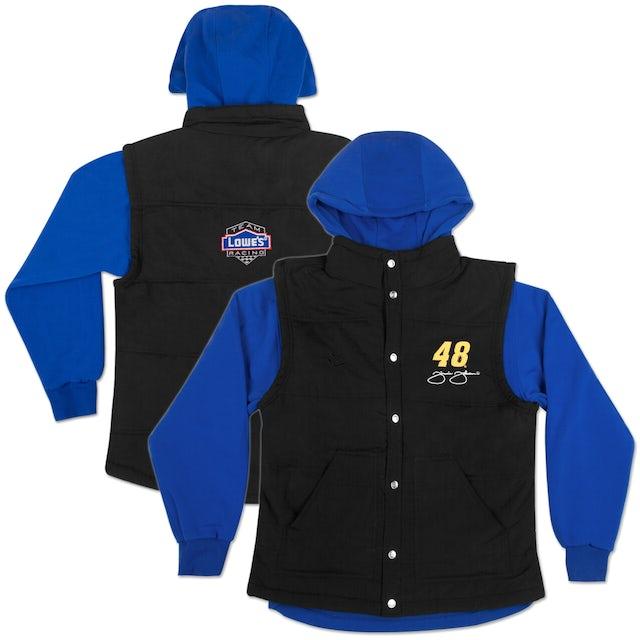 Jimmie Johnson #48 Lowe's Ladies 3 in 1 Vest Jacket Blue