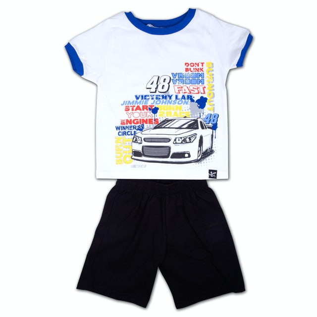 Jimmie Johnson #48 Boys Tactical Short/T-shirt Set