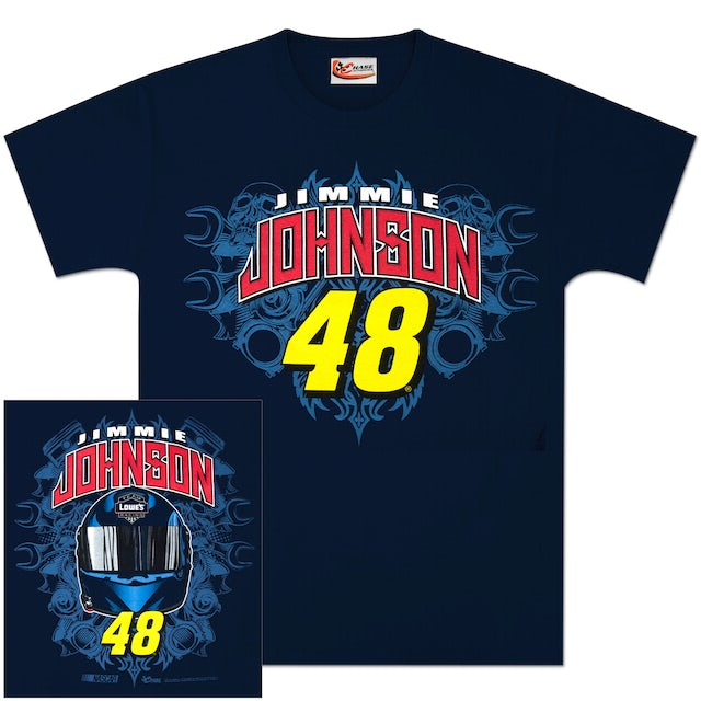 Jimmie Johnson #48 Lowes Team Graphic T-shirt Blue