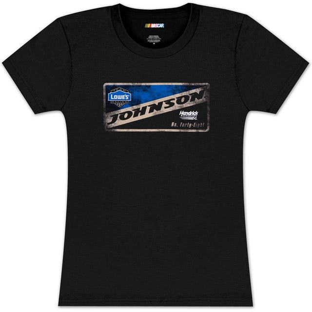 Jimmie Johnson #48 Lowes Ladies Vintage Sign T-shirt
